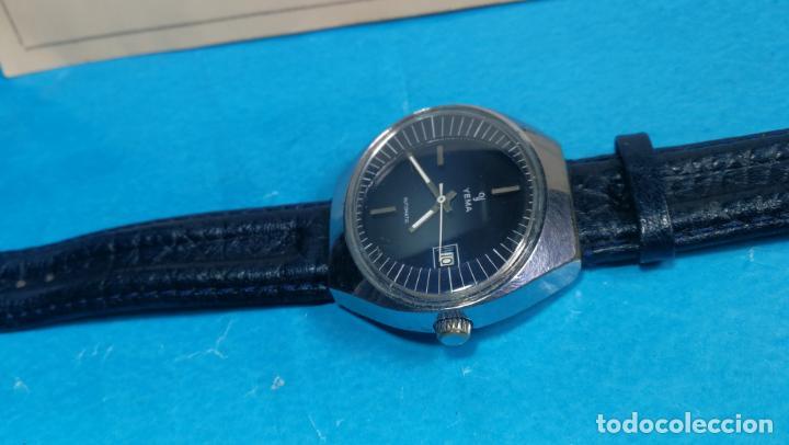 Relojes automáticos: Botito reloj Yema antiguo automático, funciona bien, grande - Foto 10 - 140285570