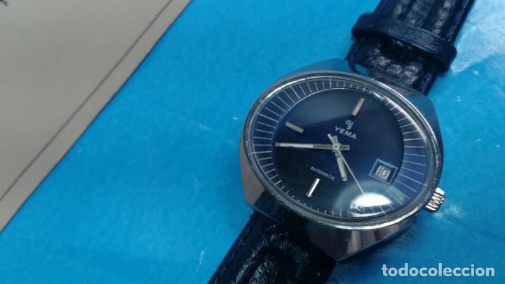 Relojes automáticos: Botito reloj Yema antiguo automático, funciona bien, grande - Foto 12 - 140285570