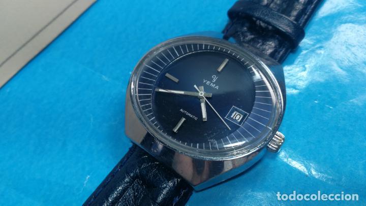 Relojes automáticos: Botito reloj Yema antiguo automático, funciona bien, grande - Foto 13 - 140285570
