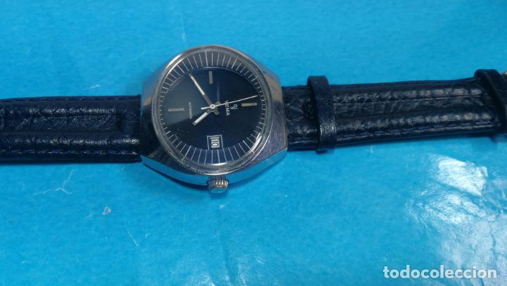 Relojes automáticos: Botito reloj Yema antiguo automático, funciona bien, grande - Foto 17 - 140285570