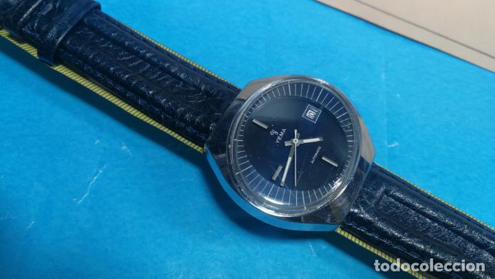Relojes automáticos: Botito reloj Yema antiguo automático, funciona bien, grande - Foto 35 - 140285570