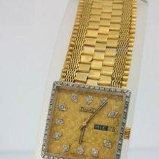 Relojes automáticos: PIAGET-RELOJ Y ESFERA ORO 18KT.-DIAMANTES EN ESFERA Y BISEL.. Lote 46870886