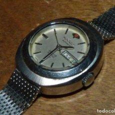Relojes automáticos: RARO RELOJ AUTOMÁTICO MIKADO JAPAN 21 RUBIS CALIBRE B-78 28800 ACERO CORREA MILANESA ORIGINAL. Lote 142272034