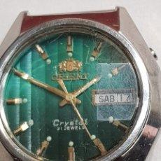 Relojes automáticos - Reloj Orient antiguo Crystal 21 jewels funcionando - 142785809