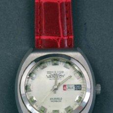 Relojes automáticos: RELOJ AUTOMÁTICO VANROY AUTOMATIC INCABLOC 25 JEWELS SWISS MADE FUNCIONA. Lote 143162774