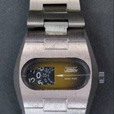 Relojes automáticos: RELOJ AUTOMÁTICO VANROY AUTOMATIC JUMP HOUR SWISS MADE FUNCIONA. Lote 143163330
