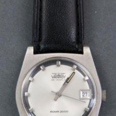Relojes automáticos: RELOJ AUTOMÁTICO VANROY AUTOMATIC 25 JEWELS ROMA 2000 SWISS MADE FUNCIONA. Lote 143164454
