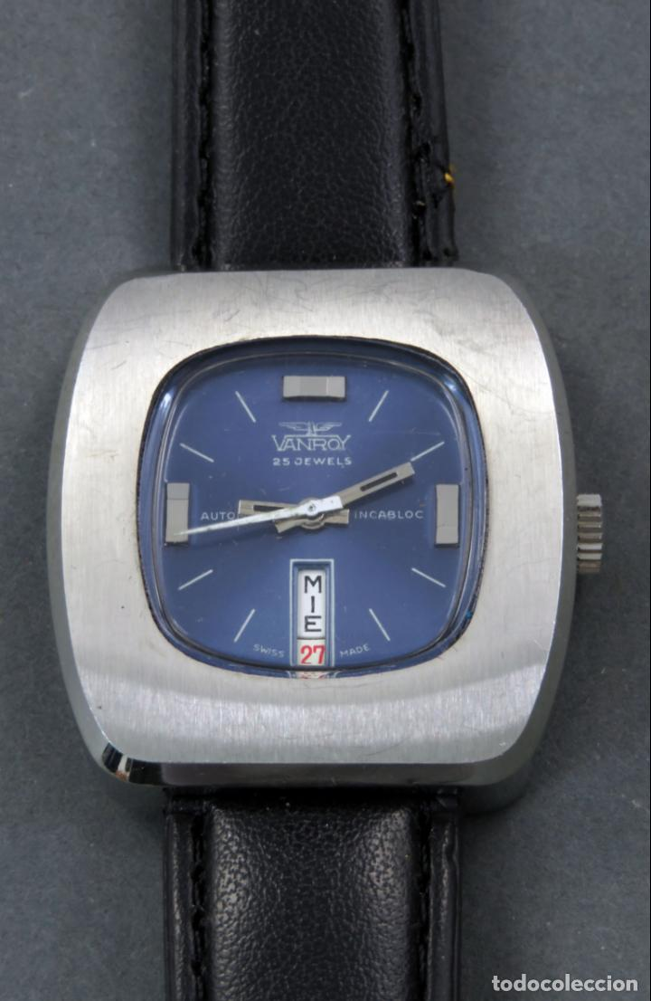 RELOJ AUTOMÁTICO VANROY AUTOMATIC 25 JEWELS INCABLOC SWISS MADE FUNCIONA (Relojes - Relojes Automáticos)