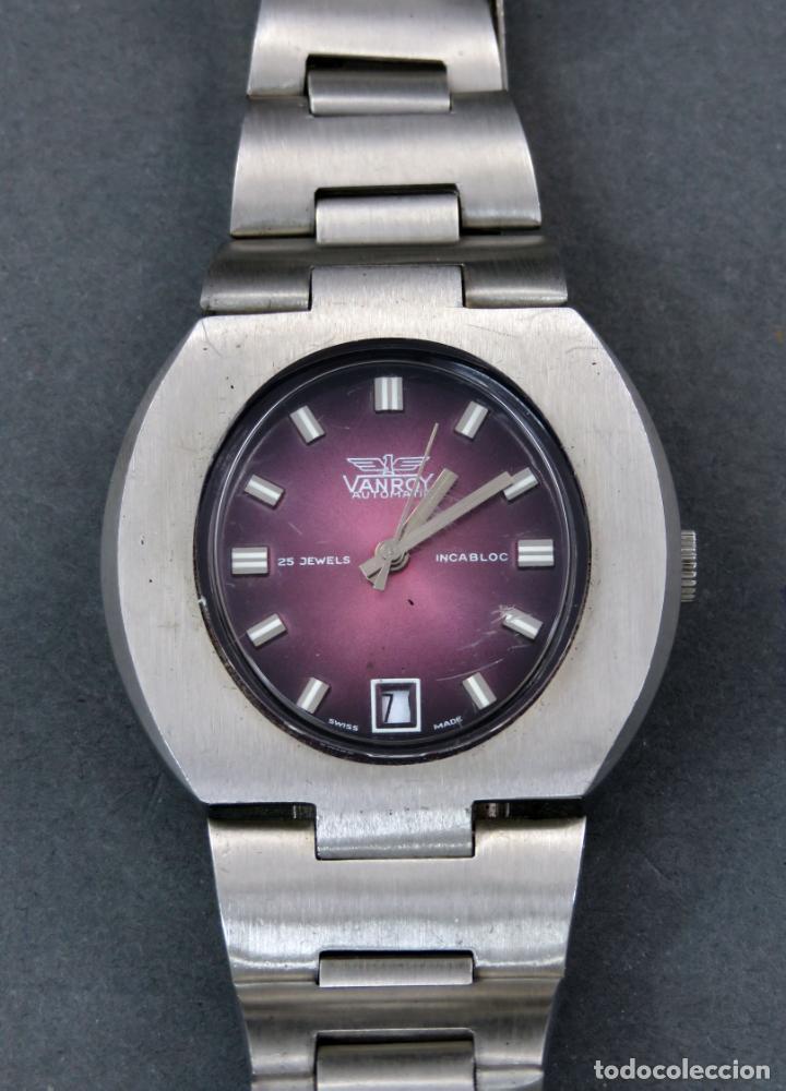 Relojes automáticos: Reloj automático Vanroy Automatic 25 jewels Incabloc Swiss Made Funciona - Foto 2 - 143168578