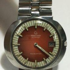 Relojes automáticos: RELOJ CERTINA AUTOMÁTICO REVELATION EN ESFERA ROJA CON CORREA ORIGINAL Y TIJA PARA COLECCIONISTAS. Lote 143294480