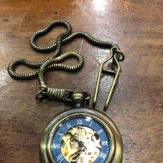 Relojes automáticos: RELOJ DE BOLSILLO AUTOMATICO - FUNCIONANDO PERFECTAMENTE. Lote 143362786