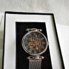 Relojes automáticos: RELOJ AUTOMATIC PRINCE LONDON METAL COLOR PLATA EN CAJA SIN USO - 22.CM LARGO-ESFERA 3.5.CM DIAMETRO. Lote 143755874