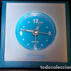 Relojes automáticos: RELOJ QUARTZ DE SOBREMESA A PILAS COBN PUBLICIDAD DE MEDICINA, EZETROL. Lote 143788298