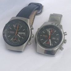 Relojes automáticos: REMATO 2 RELOJES CRONOGRAFOS CITIZEN FLY BACK AUTOMÁTICOS. Lote 143824764