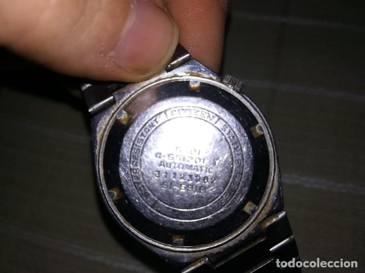 Relojes automáticos: Muy raro citizen automático con cristal central en relieve 21 jewels funcionando miren fotos - Foto 5 - 144436974