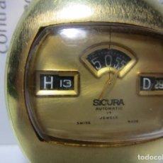 Relojes automáticos: RELOJ ANTIGUO AUTOMATICO SICURA BY BREITLING CAJA 37MM HOMBRE VINTAGE CHAPADO ORO RAREZA. Lote 63604692
