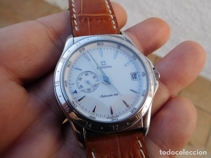 Relojes automáticos: Reloj Zenith automático doble uso horario - Foto 2 - 145957674