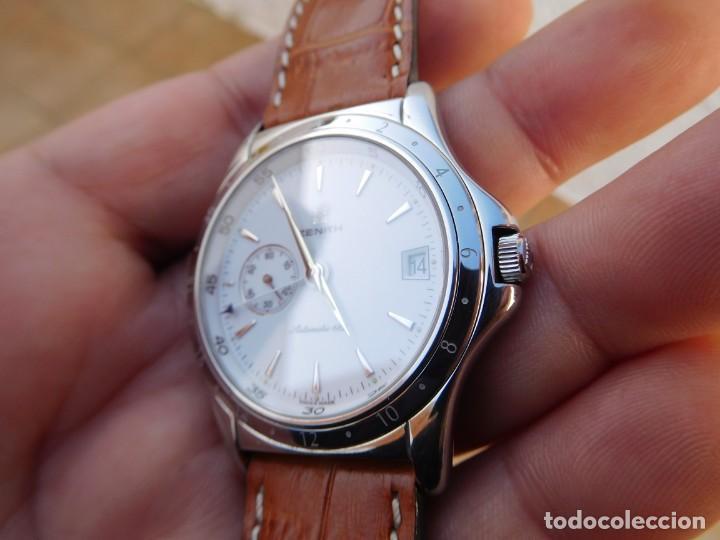 Relojes automáticos: Reloj Zenith automático doble uso horario - Foto 3 - 145957674