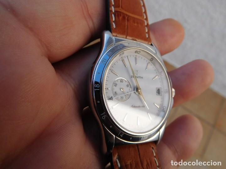 Relojes automáticos: Reloj Zenith automático doble uso horario - Foto 4 - 145957674