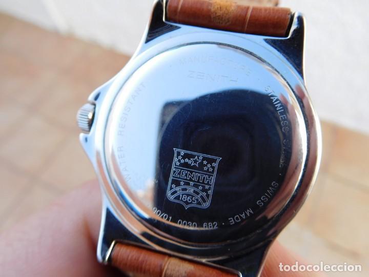 Relojes automáticos: Reloj Zenith automático doble uso horario - Foto 6 - 145957674