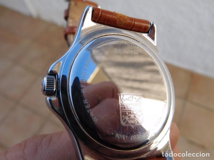 Relojes automáticos: Reloj Zenith automático doble uso horario - Foto 7 - 145957674