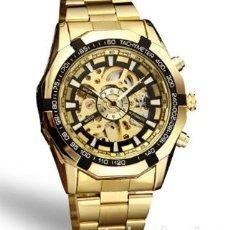 Relojes automáticos: RELOJ AUTOMÁTICO EN ORO DE 18 QUILATES SKELETON DE MAQUINARIA VISIBLE EN AMBOS LADOS. Lote 146070958