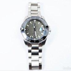 Relojes automáticos: RELOJ DE PULSERA AUTOMÁTICO EN ACERO MACIZO ESFERA NEGRA. Lote 146850362