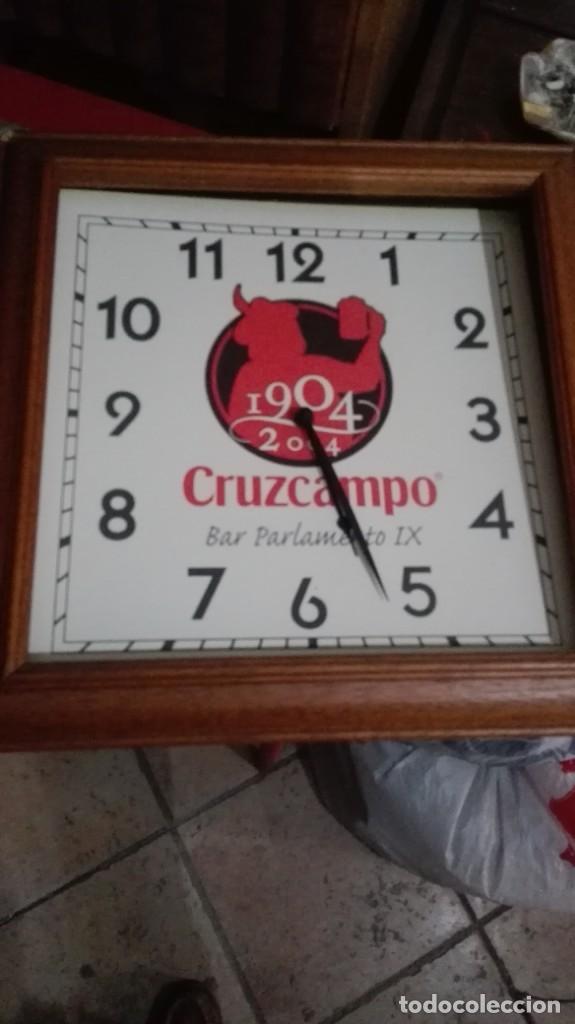 RELOJ DE PARED CRUZCAMPO (Relojes - Relojes Automáticos)