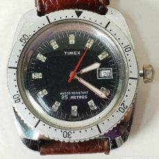 Relojes automáticos: RELOJ DE PULSERA DE CUARZO. MARCA TIMEX. CAJA DE ACERO INOXIDABLE. CIRCA 1980.. Lote 148317106