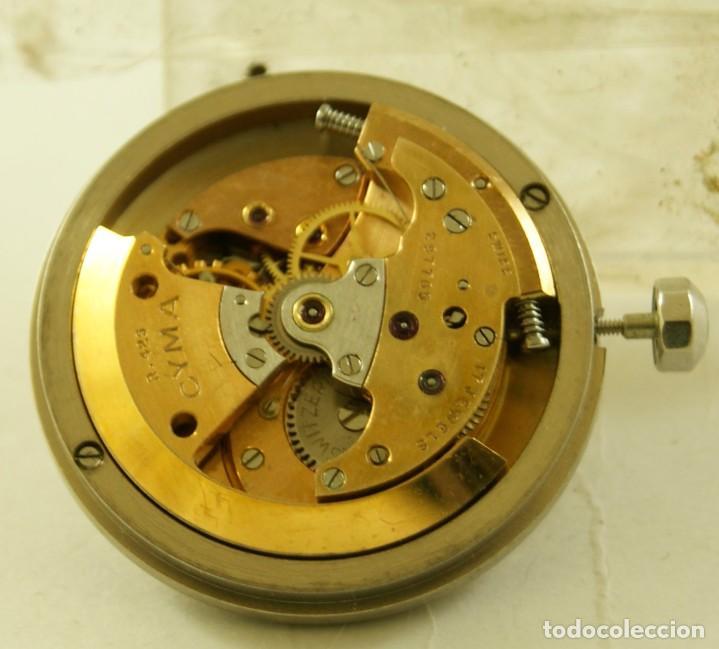 RARO CALIBRE CYMA R425 BUMPER CON ESFERA AGUJAS Y CORONA CYMAFLEX (Relojes - Relojes Automáticos)