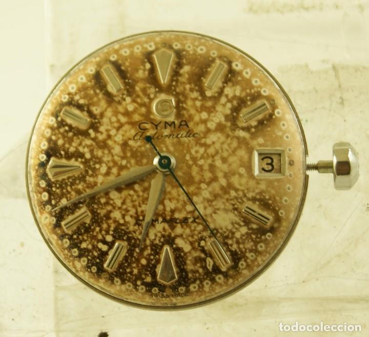 Relojes automáticos: RARO CALIBRE CYMA R425 BUMPER CON ESFERA AGUJAS Y CORONA CYMAFLEX - Foto 2 - 148898462
