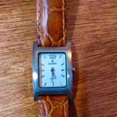 Relojes automáticos: BONITO RELOJ CAUNY DE MUJER. ACERO INOXIDABLE Y PULSERA DE PIEL. Lote 149501150