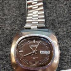 Relojes automáticos: RELOJ SEIKO AUTOMATIC, CON DOBLE CALENDARIO, 19 JEWELS Y ESFERA MARRÓN. FUNCIONANDO. Lote 150081538