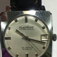Relojes automáticos: RELOJ CRISTAL WATCH AUTOMÁTICO PERPETUA 25 JEWELS EN FUNCIONAMIENTO. Lote 154230874