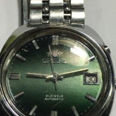 Relojes automáticos: RELOJ AUTOMATICO ORIENT CON BOTON AUTOMATICO CAMBIO DIAL RAPIDO 21 JEWELS. Lote 151361950