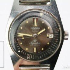 Relojes automáticos: RELOJ DE PULSERA CABALLERO DUWARD GENÈVE AQUASTAR AUTOMATIC 1701 - ESFERA MARRÓN, FUNCIONANDO - #E01. Lote 151954210