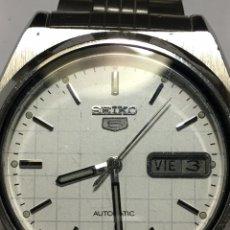 Relojes automáticos: RELOJ SEIKO N5 AUTOMÁTICO EN ACERO COMPLETO ESFERA ESPECIAL DAMERO COMO NUEVO. Lote 152349181