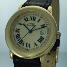 Relojes automáticos: CARTIER MOD.RONDE 21-PLATA LAMINADA ORO 18KTS-CABALLERO.. Lote 61289935