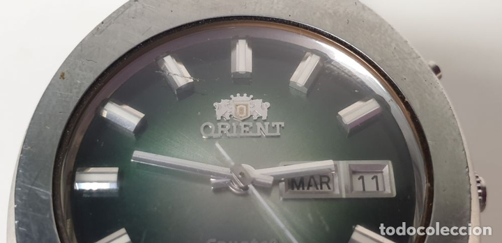 Relojes automáticos: RELOJ DE PULSERA PARA CABALLERO. ORIEN CRYSTAL. AUTOMÁTICO. 27 JEWELS. AÑOS 70. - Foto 5 - 154068266
