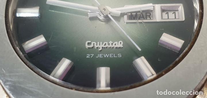 Relojes automáticos: RELOJ DE PULSERA PARA CABALLERO. ORIEN CRYSTAL. AUTOMÁTICO. 27 JEWELS. AÑOS 70. - Foto 6 - 154068266