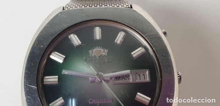 Relojes automáticos: RELOJ DE PULSERA PARA CABALLERO. ORIEN CRYSTAL. AUTOMÁTICO. 27 JEWELS. AÑOS 70. - Foto 8 - 154068266