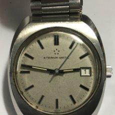 Relojes automáticos: RELOJ ETERNA MATIC AUTOMÁTICO TODO ORIGINAL HASTA EL CRISTAL EN ACERO COMPLETO DE LUJO. Lote 155010572