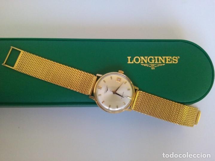 Relojes automáticos: RELOJ LONGINES EN ORO MACIZO DE 18 KILATES/750mm AUTOMATICO Y ANTIGUO - Foto 5 - 155327270