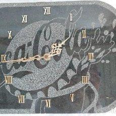 Relojes automáticos: IMPRESIONANTE RELOJ DE LA CASA OFICIAL DE COCA COLA DE BARCELONA EN MÁRMOL. Lote 155699646