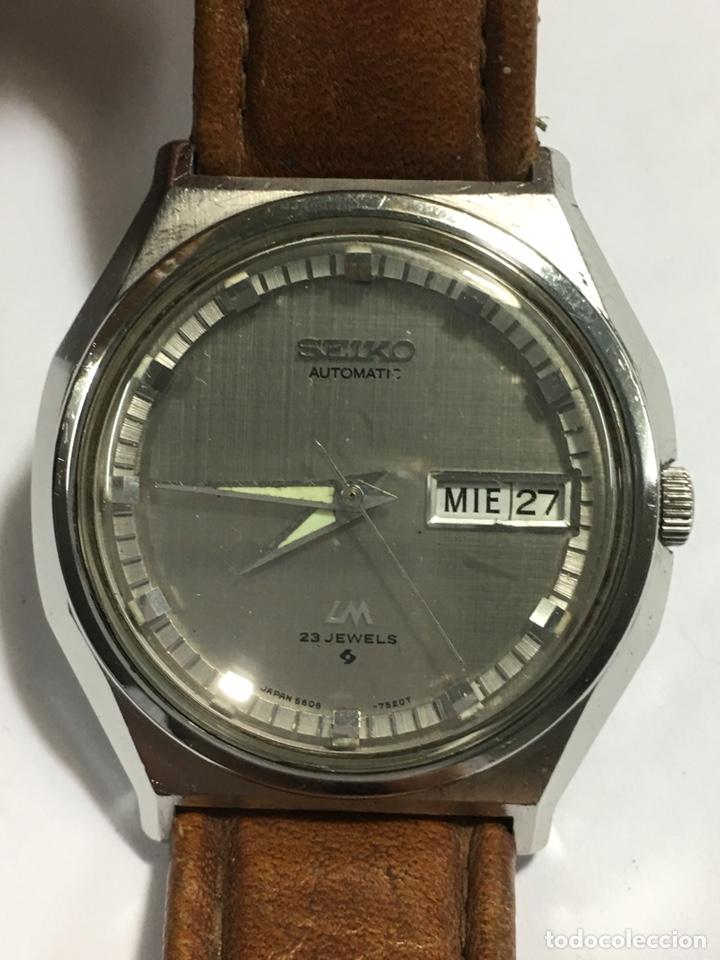 a880032afd60 Reloj Seiko automático LM 23 jewels doble dial señales horarias  reflectantes en acero
