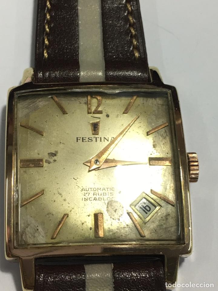 80e15907b61c Reloj Festina automático Caja chapada maquinaria Swiss made movimiento 2452  de las mejores