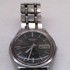 Relojes automáticos: RELOJ SEIKO AUTOMATICO ESFERA NEGRA,BOTON BIDERICIONAL PARA EL DOBLE VIAL FUNCIONANDO. Lote 158024146