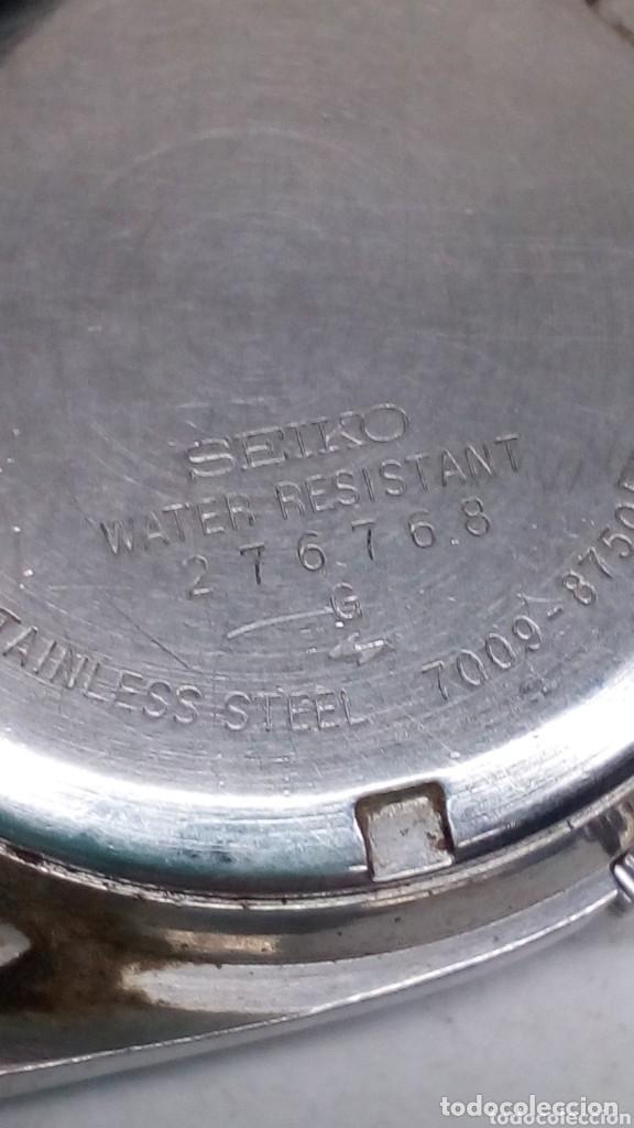 Relojes automáticos: reloj seiko automatico esfera negra,boton bidericional para el doble vial funcionando - Foto 2 - 158024146
