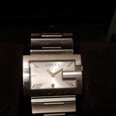 Relojes automáticos: RELOJ GUCCI UNISEX 100M RECTANGLE, FUNCIONA PERFECTAMENTE. SIN DOCUMENTACIÓN.. Lote 158160526