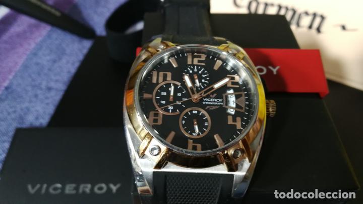 Relojes automáticos: Una leyenda de reloj deportivo ,de quartz, Viceroy colección Fernando Alonso F1, GRANDE,precioso - Foto 13 - 158473950